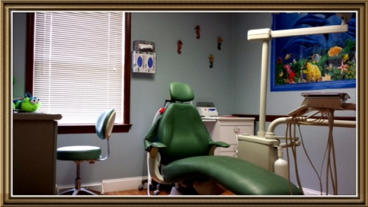 Pediatric Dentist Dr. Michael Lemper in Willow St., PA - Green exam room